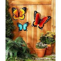 Buy cheap Wall Art Indoor / Outdoor Metal Wall Decor Butterfly Set of 3 product