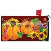 Buy cheap Fall Glory Floral Magnetic Mailbox Cover Sunflowers Pumpkins Briarwood Lane product