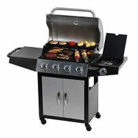 Buy cheap Master Cook Outdoor BBQ 4-Burner Cabinet Propane Gas Grill with Side Burner from wholesalers