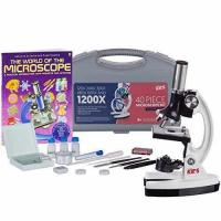 Buy cheap AMSCOPE-KIDS 120X-1200X 48pc Metal Arm Educational Starter Biological Microscope Kit + Book from wholesalers