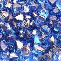 Buy cheap Stanbroil 10-Pound 1/2 Inch Fire Glass Diamonds for Fireplace Fire Pit, Royal Cobalt Blue Luster product
