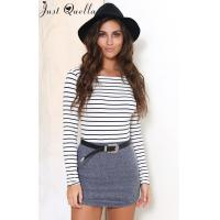 Buy cheap Just Quella Women's Long Sleeve Stripe Shirt 6341 from wholesalers