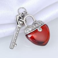 Buy cheap Fashion 925 Sterling Silver Clear CZ And Red Agate Heart Shaped Lock And Key Jewelry from wholesalers