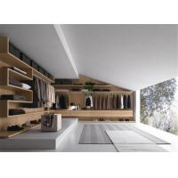 Buy cheap Walk in Designer Wardrobe with Mirrored Panel and Drawer in Open Area Villa Resort from wholesalers