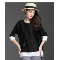 Loose Seven-minute Sleeve T-shirt