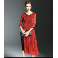 Buy cheap Hollow Out Lace Dress Ladies Casual Knee Length Dress from wholesalers