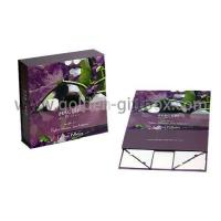 Buy cheap Personalized magnetic closure/ribbon bow closure luxury foldable skin care set packaging box from wholesalers