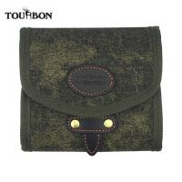 Buy cheap Tourbon Canvas and Leather Fly Fishing Wallet Pouch Patch Flies Lures Holder from wholesalers