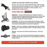 Buy cheap Steer Axles for Forklift from wholesalers
