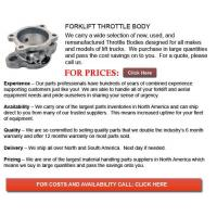 Buy cheap Throttle Body for Forklift from wholesalers