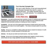 Buy cheap Fork Mounted Spreader Bars from wholesalers