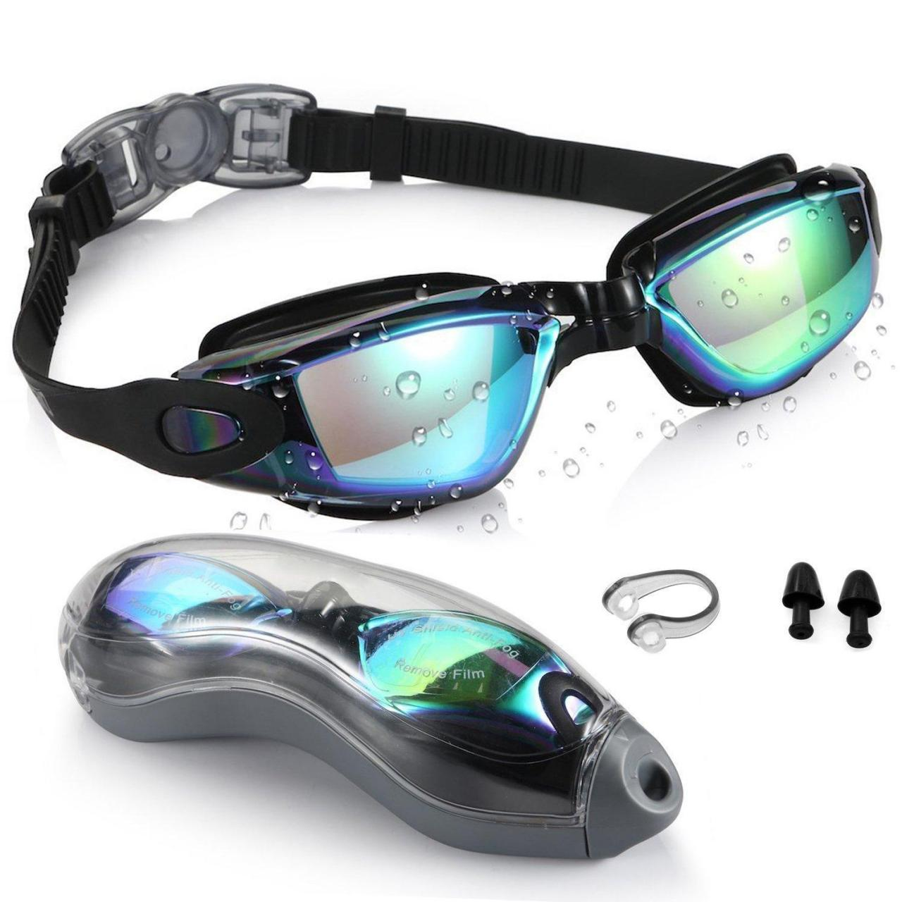 Buy cheap Zerhunt Professional Adult Swimming Goggles Mirrored, Black from wholesalers