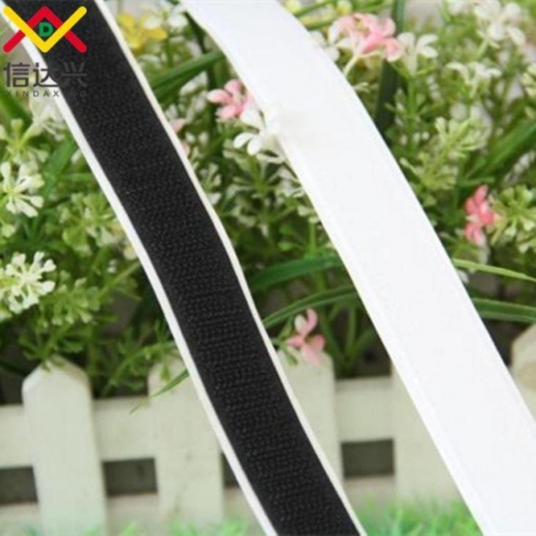 Quality REACH Eco-friendly Polyester Carpet Hook and Loop Adhesive Tape for sale
