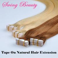Buy cheap SW-Tape-P27/613# Tape in Remy Hair Extension Strongest Blue Bonding Tape from wholesalers