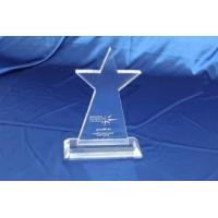 Buy cheap Custom Acrylic Clear Laser Engraved Trophy Star Shape from wholesalers