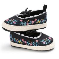 Buy cheap cotton fabric embroidery handmade soft flat infant walking girl newborn toddler mary jane shoes sale from wholesalers