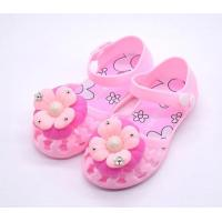 Buy cheap summer flower gel plastic pvc dress shoes infant toddler girl flat jelly sandals sale from wholesalers