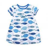 Buy cheap short sleeve cotton one-pieces summer new baby girl clothes dress kids wear sale from wholesalers