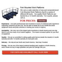 Buy cheap Fork Mounted Work Platforms from wholesalers
