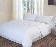 Buy cheap 100%cotton white bed cover set from wholesalers