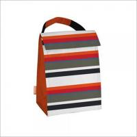 Buy cheap Red, Orange, Black, Grey, Blue Stripe Print Thermal Lunch Tote from wholesalers