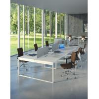 Buy cheap modern home office desks Simple desigb office conference table,white long table BOD-002 from wholesalers