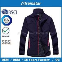 Buy cheap New Design Printed Knitted Softshell Jacket with Color Zipper from wholesalers