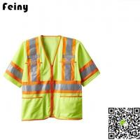 Buy cheap Yellow Orange Mens 2015 ANSI Class 3 Hi Vis Safety Reflective Vest Jacket from wholesalers