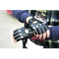 Buy cheap cool half finger leather glove from wholesalers