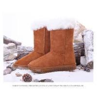 Buy cheap Women Brown Suede Boots With LED Lighting from wholesalers
