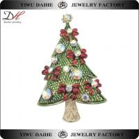 Buy cheap Christmas Tree Fashion Brooch Hollycraft Vintage Crystal Oem BR160715 from wholesalers