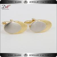 Buy cheap Vintage/Retro Classic Mens Oval Gold Cufflink With Oval Silver from wholesalers