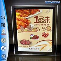 Buy cheap Real Estate Agent Acrylic LED Window Display double sided crystal light box from wholesalers