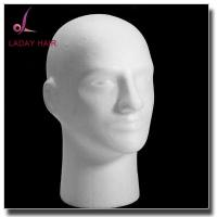 Buy cheap New Wig Hat Holder Glasses Foam Mannequin Styrofoam Male Head Stand Model Diameter 12CM from wholesalers