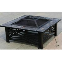 Buy cheap XY-FP-16041 Backyard Square Metal Fire Pit With Tiles from wholesalers