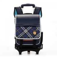 Buy cheap factory price simple style blue primary school children trolley backapck bag for kids from wholesalers