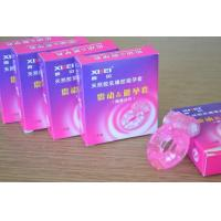 Buy cheap Stretch Strong Dick Ring Vibrater Condom / Penis Bullet Cock Ring Sex Toy For Man from wholesalers