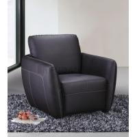 Buy cheap Genuine Leather Relaxing Armchair with Removable Back Cushion and Contrasting Stitching from wholesalers