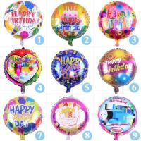 Buy cheap Happy Birthday Party Metallic Foil Mylar Helium Balloon From China Factory from wholesalers