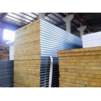 Buy cheap Fireproof Rock Wool Galvanized Steel Sandwich Panel from wholesalers