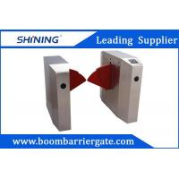 Buy cheap RIFD Reader Semi-Automatic Flap Barrier Gate With Emergency Evacuation Function from wholesalers
