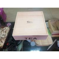 Buy cheap wholesale Custom color solid wooden tea box with compartment from wholesalers