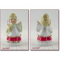 Buy cheap Art Glass LEFTON SPAGHETTI CHRISTMAS ANGEL VINTAGE FIGURINE HOLDING CANDELABRA from wholesalers