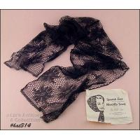Buy cheap Art Glass VINTAGE SPANISH LACE HOOD TYPE MANTILLA SCARF CHAPEL SCARF from wholesalers