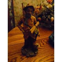 China Art Glass Large tall porcelain man figurine with sticks and goose # 4123 on sale