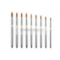 Buy cheap Round Tapered Nature Nail Art Brush Set With Acrylic And Aluminum Handle product
