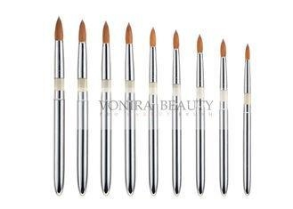 Buy cheap Round Tapered Nature Nail Art Brush Set With Acrylic And Aluminum Handle from wholesalers