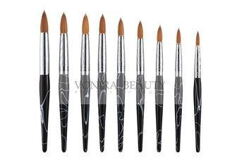 Buy cheap Black Marble Nature Nail Art Brush With Beautiful Carved Ferrule And Nature Wood Handle from wholesalers