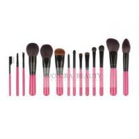 Buy cheap 14 PCS Pink Deluxe CosmeticMakeup Brush Collection With Exquisite Nature Bristles from wholesalers