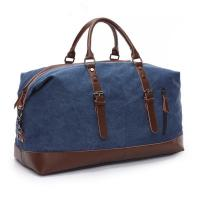 Buy cheap Travel Duffel Bag Canvas Bag Leather Weekend Bag Overnight from wholesalers